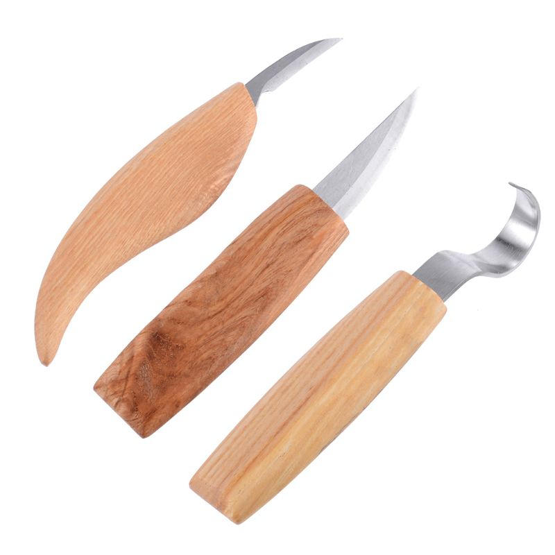 Stainless Steel 3pc Wood Carving Set