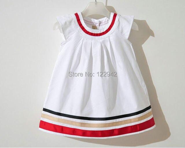 Free shipping New(White colors) Baby Shirt,stripes baby girls dress ,children/kids dress,Baby Wear