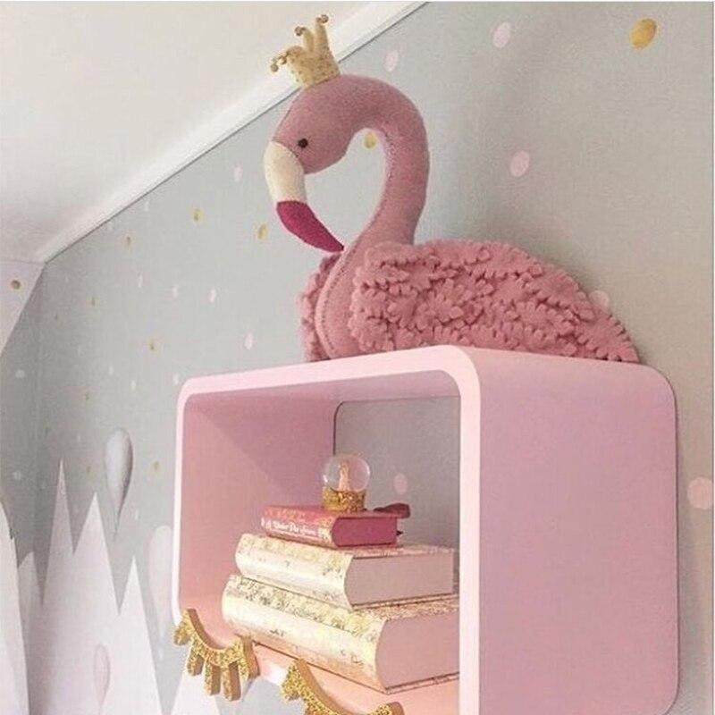Ins magnifiquement conçu paon ornements tête mur jouet décor romantique mignon bébé animal tête mur décoration en peluche mur en peluche