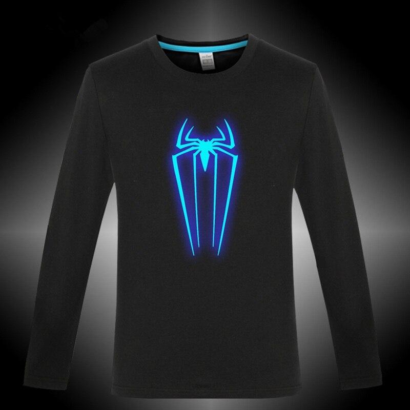 Amazing <font><b>SpiderMan</b></font> Cosplay,Black <font><b>SpiderMan</b></font> Costume,Adult <font><b>SpiderMan</b></font> Costume,<font><b>Glow</b></font> <font><b>in</b></font> <font><b>Dark</b></font> Shirt,Superhero Spider-man Clothes TC416