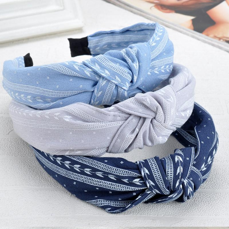 1PC Hot Sale Korean Bow Knot Headbands For Women Women Lady Solid Cloth Hairband Hair Accessories For Women Headwear