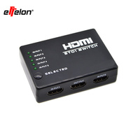 5 Port HDMI Switch Switcher HDMI Splitter HUB With IR Remote Control IR Receiver Cable For