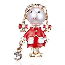 Rinhoo Small Cute Girl Brooches for Women Opal and Rhinestone Brooch Pin  Silver Color Dress Coat ffd15d463ca7