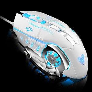 Image 4 - AULA المهنية ماكرو لعبة ماوس برو LED السلكية الألعاب فأرة للكمبيوتر المحمول الكمبيوتر الفئران قابل للتعديل 3200 ديسيبل متوحد الخواص الصامت Mause Gamer