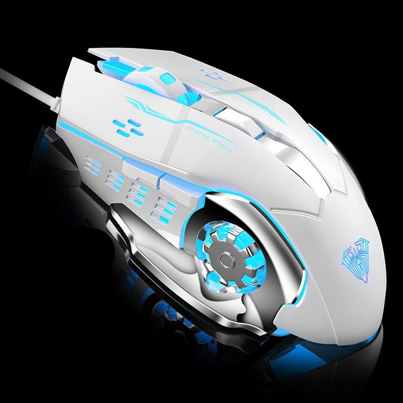 Image 4 - AULA Professional Macro Game Mouse Pro LED Wired Gaming Mouse for Pc Computer Laptop Mice Adjustable 3200 DPI Silent Mause Gamer-in Mice from Computer & Office