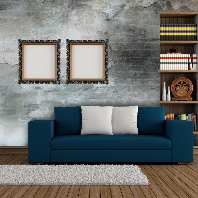 Online Kaufen Großhandel Stein Wand Muster Aus China Stein Wand ... Retro Tapete Wohnzimmer