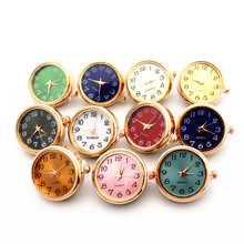 Hot Selling 6pcs Mix 18mm Rose Gold Watch Snap Buttons Charms Fit Ginger Bracelet Women Bangles Necklace Jewelry