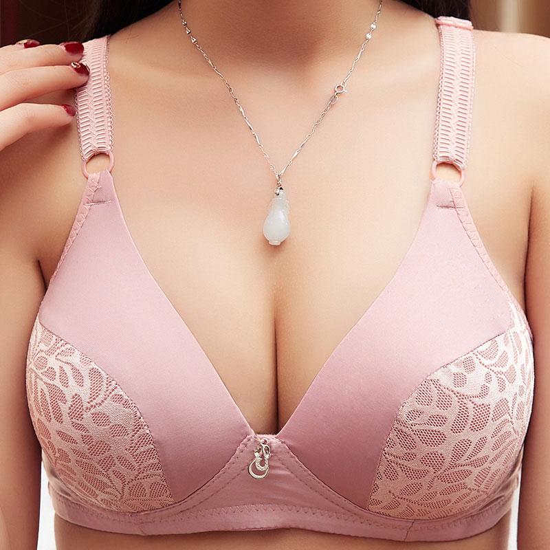 Women Push Up Bra Big Size A B C Cup 36 38 40 42 Sexy Wireless Underwear Bras For Women Wire Free Lingerie Bralette 0037