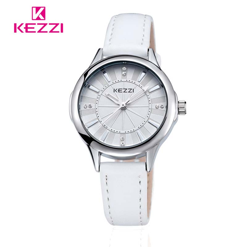 KEZZI Womens Watches Top Brand Luxury Women Leather Strap ...