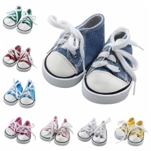 7cm Mini Doll Sneackers for 43CM Reborn New Baby Sport Shoes 18 inch doll Toy Boots Accessories