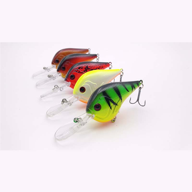 5 pieces Fishing Lure Deep Swimming Crank bait 9.5cm/11g Hard Bait 5 Colors Available Wobbler Slow Floating Fishing Tackle