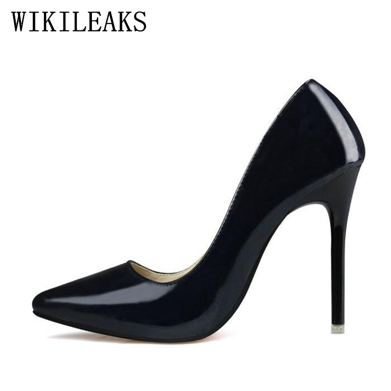 ladies wedding shoes woman designe extreme high heels women shoes zapatos mujer tacon sapatos de salto alto escarpins femme 2018 idg brand women slip on high heels short rough with the fall and winter metal buckle rivets shoes woman zapatos mujer tacon