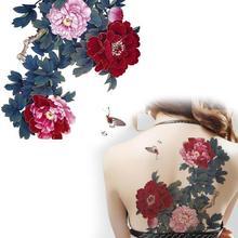 Big Temporary Tattoos Blossom Flower Tattoos Chinese Peony Flower Tattoos Body Art Sticker Waterproof YM-T001