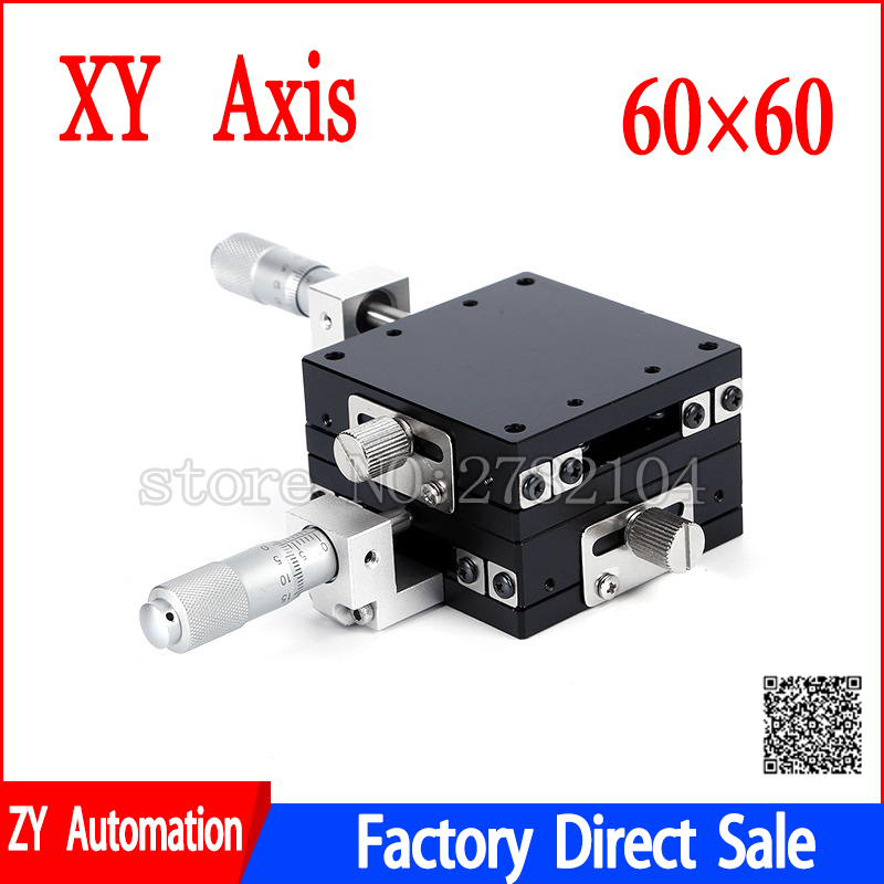 60x60mm XY-Axis Stages Replacement Linear Stage Ball Bearing Manually Platform