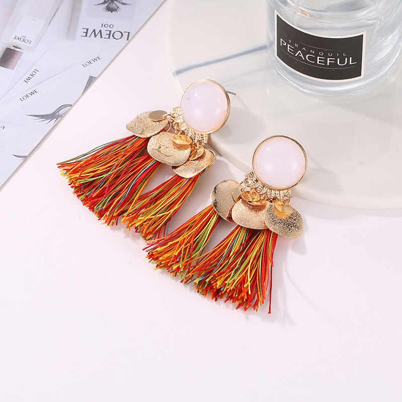 Ювелирные изделия Эффектные серьги богемаские сережки стиль стеклянные семя бисерные серьги для женщин pendientes больше цветов