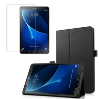 1x Clear Screen Protector Luxury Folio Stand Leather Case Magnetic Cover For Samsung Galaxy Tab A