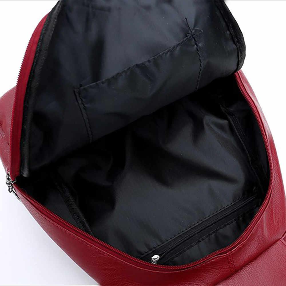 กระเป๋าผู้หญิง 2019 กระเป๋าเป้สะพายหลัง mochila feminina กระเป๋า Multi-Purpose dual-Sac A DOS กระเป๋าหนังนุ่มกระเป๋าแม่