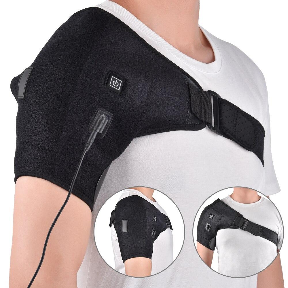 Terapia de calor del apoyo del hombro vendaje artritis lesión dislocación de hombro correa de cinturón
