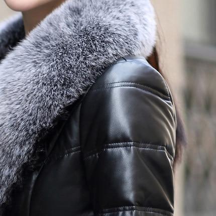Canard Peau Véritable Vestes La De Femmes Duvet En Black Plus Pardessus Réel Fourrure 3xl Naturel Cuir Taille 4xl Mouton Et Fox L264 Manteaux 6HxwWP0q