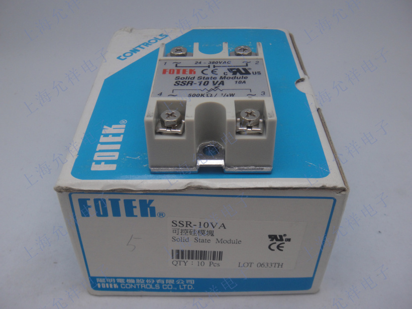 100% Original Authentic Taiwan's Yangming FOTEK solid state relay / thyristor modules SSR-10VA normally open single phase solid state relay ssr mgr 1 d48120 120a control dc ac 24 480v