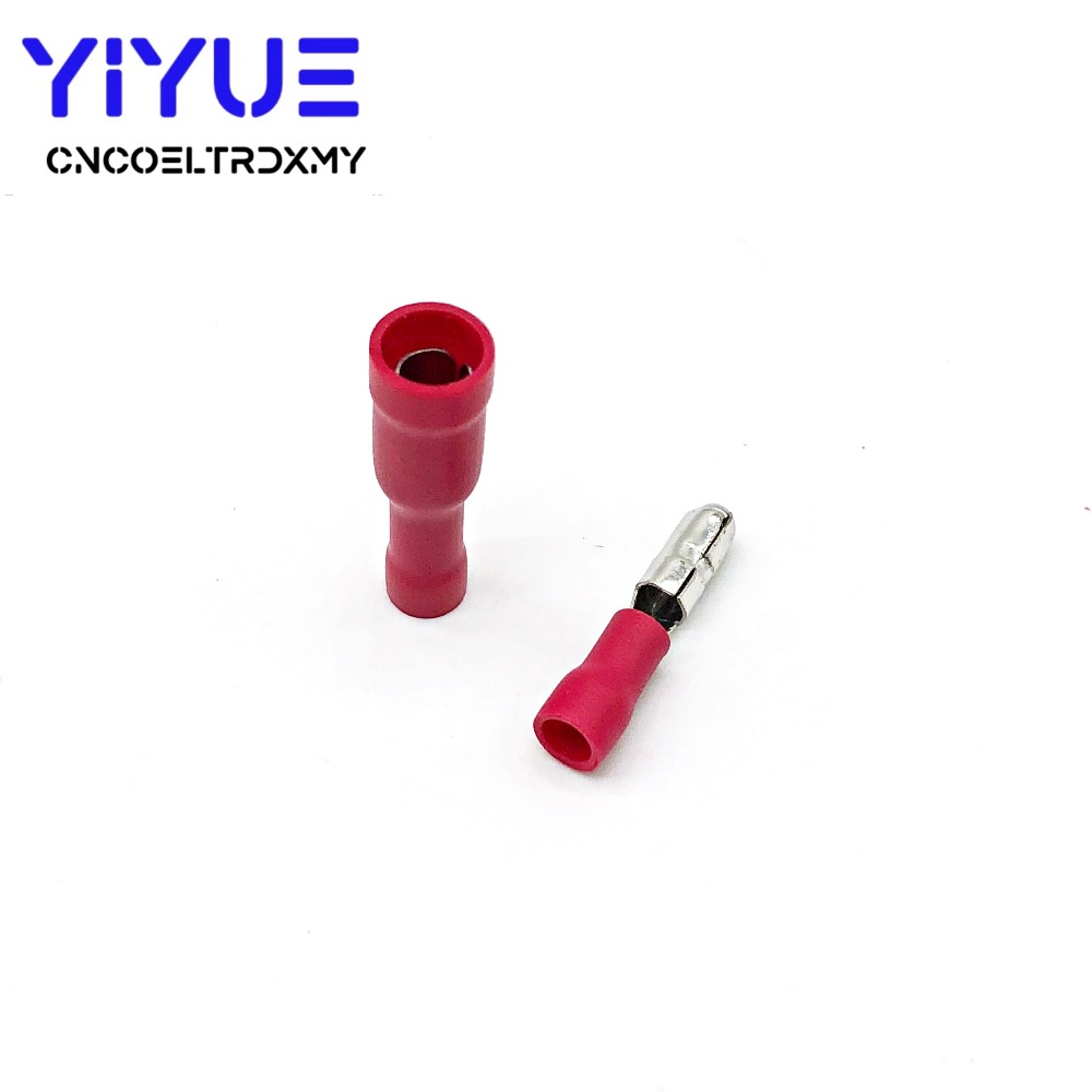 Red Male Female Bullet Insulated Connector Crimp Terminal (5)