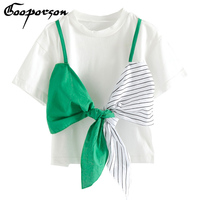 2018 Girls T Shirt Short Sleeve White Shirt With Big Bow Unique Design Kids Girl S
