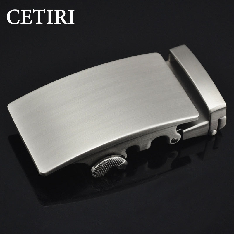CETIRI 18 Fashion Designer   Belts   High quality alloy buckle for Not   belt   body Sliding Buckle Ratchet Luxury Men Automatic buckle