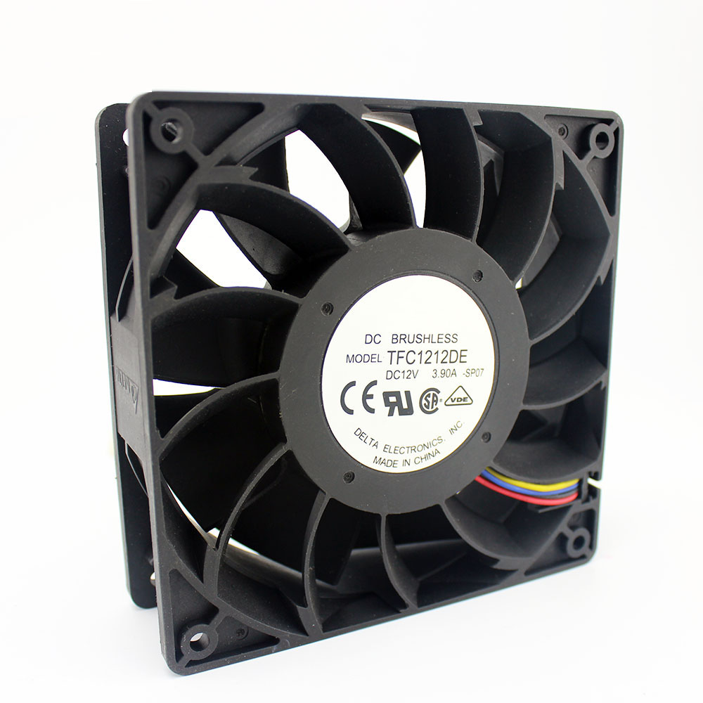 TFC1212DE <font><b>120mm</b></font> DC <font><b>12V</b></font> 5200RPM 252CFM For Bitcoin Miner <font><b>Powerful</b></font> Server Case AXIAL cooling <font><b>Fan</b></font> image