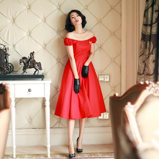 Vintage black off shoulder dress