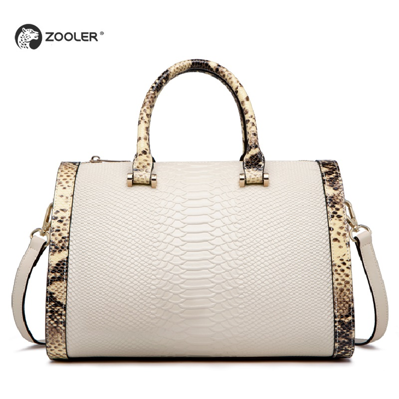 2019 HOT Genuine leather bags women ZOOLER famous brand Top Handle handbag Boston woman shoulder bag