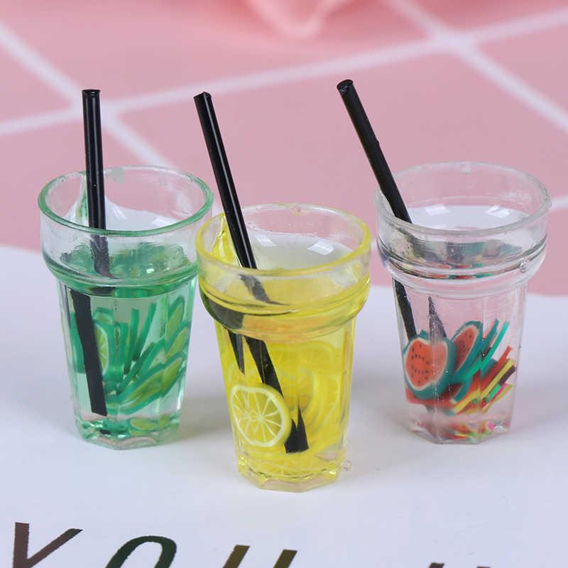 חם שרף מיני 1:12 סולם פירות לימון סימולציה לשתות עבור בית בובות מיניאטורות צעצוע חלב תה לשתות בובת מזון מטבח אבזרים