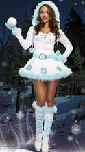 Cosplay Sexy Christmas Costumes Erotic Lingerie For Women Disfraces Adultos Mujer Sexy Deguisement Sexy Dress+Gloves+Belt WL131