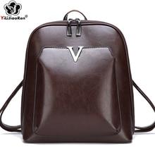 Vintage Sequin Women Backpack Brand Leather Female Large Capacity Bookbag Fashion Shoulder Bags for 2019 Mochila