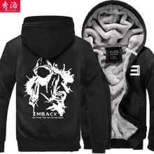 eminem hiphop bboy zipper thickening sweatshirt hoodie coat jacket