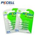Pkcell 8 pcs/2 cartão de bateria ni-mh aaa 850 mah 1.2 v baterias de baixa auto-descarga da bateria recarregável bateria