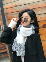 Arlenesain custom 2019 new fashion 15*160cm splendid patchwork chinchilla fur with mink fur women scarf