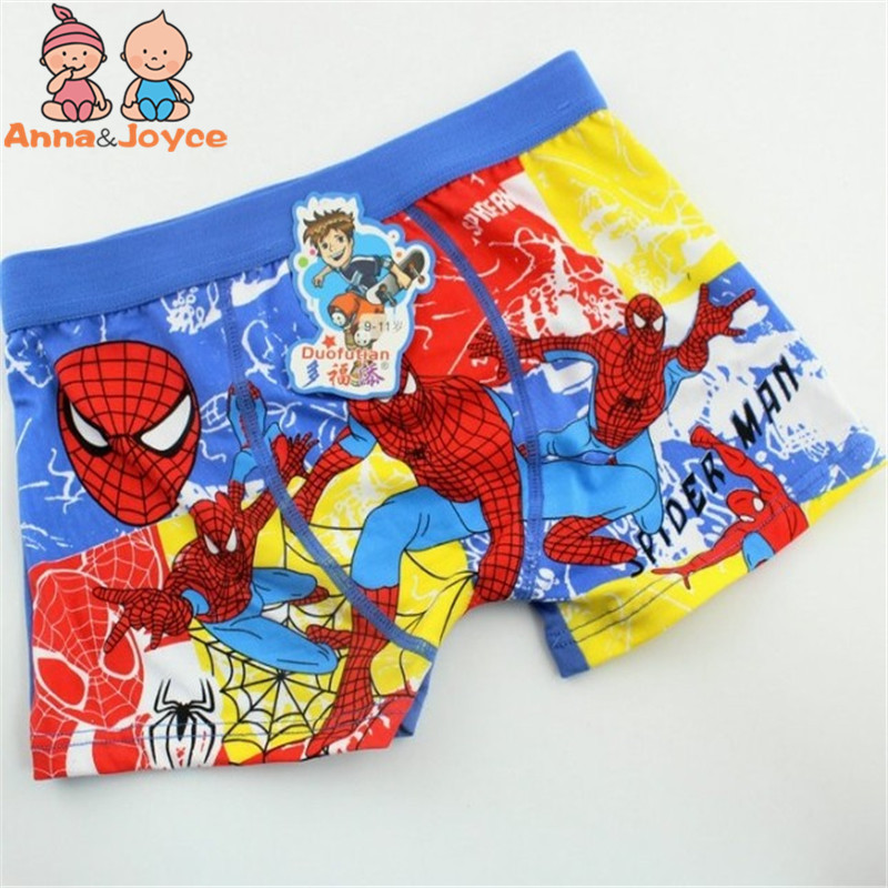 5pcs/lot Boys Kids Boxer Cartoon Underwear Boys Boxers Modal Cotton Children's Youngster Underwear Kids Pants Ftnm0006