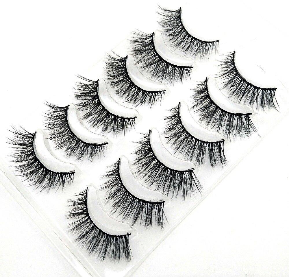 2018 NEW 6 pairs 100% Real Mink Eyelashes 3D Natural False ...
