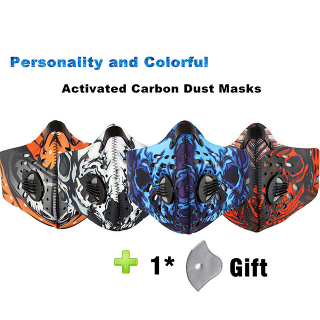 Hot Activated Carbon Dust-proof Cycling Face Mask Anti Flu H3N2 Outdoor Sport Bicycle Filter Mask Dust Smog Protective Half Face 1