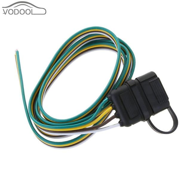 5ft 4 Pin Trailer Plug Trailer Light Wiring Harness Extension ...