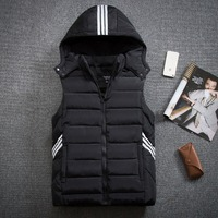 2017 New Arrival Lovers Vest Waistcoat With A Hood Wadded Jacket Men S Fashion Casual Siper