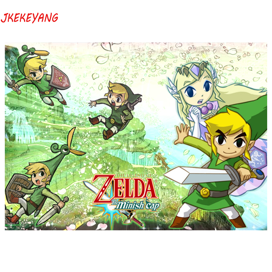 5D DIY square/round <font><b>Diamond</b></font> <font><b>Painting</b></font> The <font><b>Legend</b></font> <font><b>of</b></font> <font><b>Zelda</b></font> Cross Stitch <font><b>Diamond</b></font> Embroidery Pattern Rhinestone J1539 image