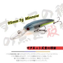 Professional Quality 9.5cm 7g Fishing Lure Wobblers Minnow Crank Crankbait Fish Swim Spinner Bait Japan REALIS SHAD