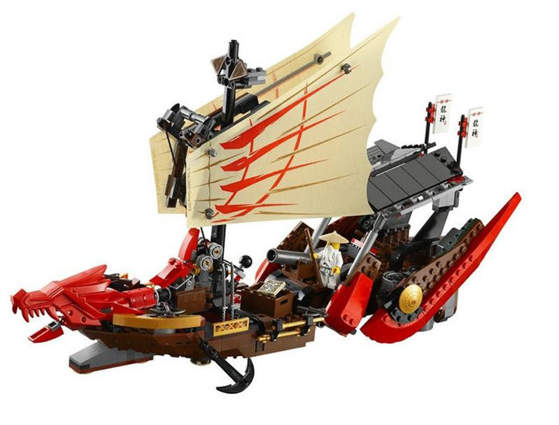 2017 New Ninja Destiny Bounty Dragon Boat Ship model Building Blocks Compatible with 9446 Lepin DIY Bricks Toys for children new lepin 16009 1151pcs queen anne s revenge pirates of the caribbean building blocks set compatible legoed with 4195 children