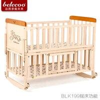 Belecoo детские кроватки твердой древесины Multi Функция детская кровать кровать качалка новорожденных bb без краски дети bedbabyfond бренд