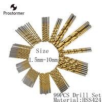 Crazy Power 99Pcs Set 1 5 10mmH Drill Bit Set HSS High Steel Titanium Coated Drill