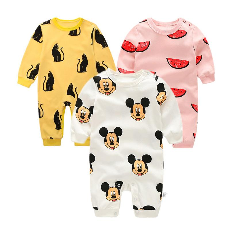 7f7da1f7d Baby Rompers Spring Autumn Cartoon Baby Clothes Cotton Long Sleeve ...