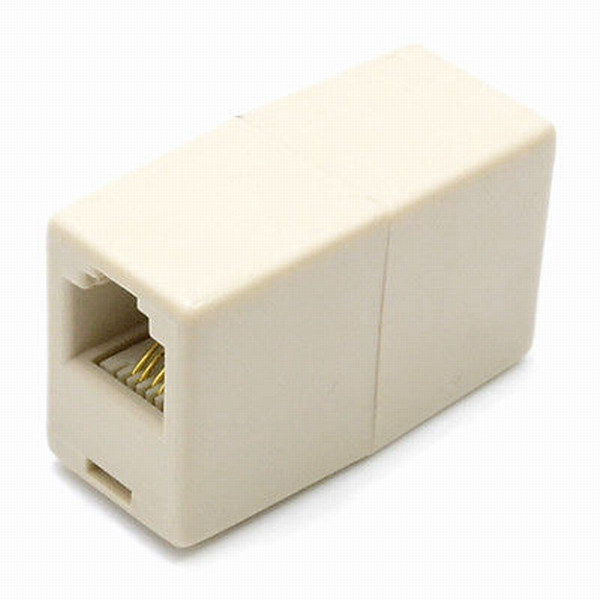 free shipping Wholesale RJ11 Fax Phone Line Cable Coupler Connector ...