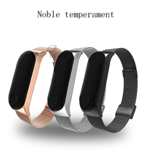 Image 4 - Roreta Mi Band 3 4 Wrist Strap Metal Stainless Steel Wrist Strap For Xiaomi Mi Band 4 3 Bracelet Miband 4 3 Wristbands Strap