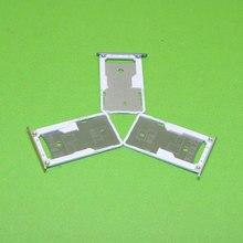 Tarjeta SIM Sostenedor de La Ranura para Xiaomi Redmi 3 3 S Micro Bandeja de la Ranura Para Tarjetas SD Socket Adaptador de Reparación de Piezas de Recambio, Oro Plata gris
